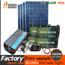 China Full Set Off Grid 4000W solar energy system for household and industrial use