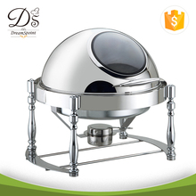 Wholesale Stainless Steel Round Roll 6L Chafing Dish/Chafer With Show Window