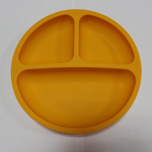 Silicone Divided Toddler Plates - 3 Pack - Easy to Clean - Dishwasher and Microwave Safe - Soft, BPA free