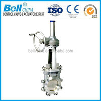 API Bevel Gear Knife Gate Valve Manual Operation