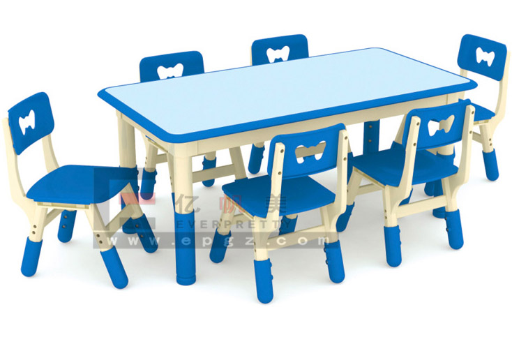 Cartoon School Desk and Chair Colorful Desk and Chair School Desk and Chair