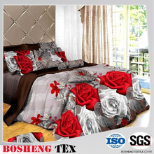 100% Polyester Microfiber Pigment Printed Home Textile Bed Sheet Fabric