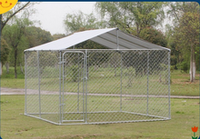 Backyard Dog Kennel Outdoor Pet Pen Chain Link Fence House Large Cage 20'x10'x6'