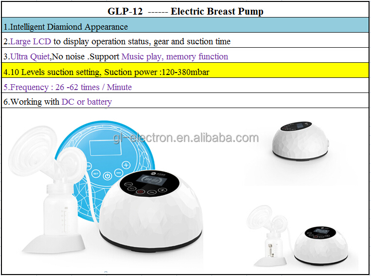 New design breast pump electronics with Large LCD to display