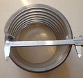 Diameter 150mm.10mm thickness of gray 6 inches PVC spiral suction pipe