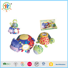Lovely hot sales baby toy cotton inflatable plush animal for kids