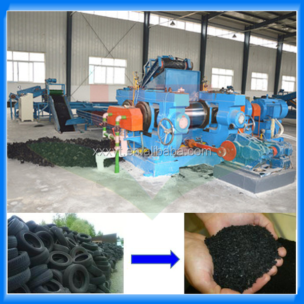 Used tire recycling machine for making rubber powder