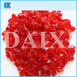 Decorative colored glass chips for crafts