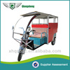 2015 newest design high powered six-seater ECO friendly closed cabin electric passenger tricycle