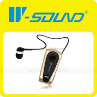 V4.0 Bluetooth Module Retractable Earphone With Microphone Wireless Earplug Headphones