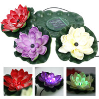 LED solar light lotus light christmas solar floating pool light