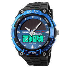 SKMEI Cheap Luminous Watches Easy To Use Solar Powered Relogios High Quality Custom Brand
