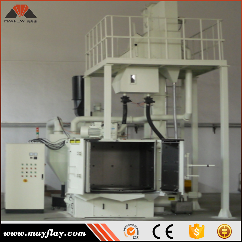 Mayflay Excellent Quality Tumble Turntable Type Shot Blasting Machine For Water Pipe