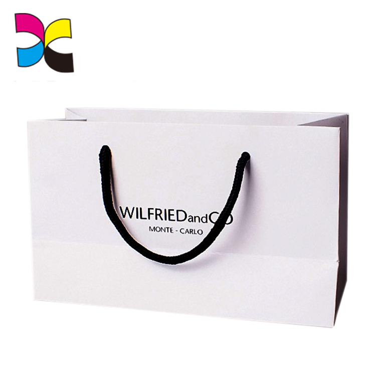 High quality branded logo printed paper bags for skirt