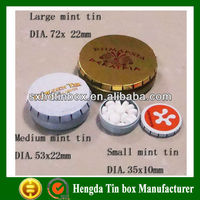 small click clark tin box for packing pill and mint