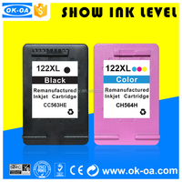 office supplies for refillable auto reset chip printer compatible for hp 122 ink cartridge