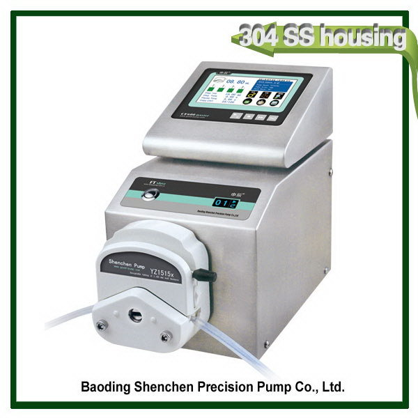 High quality 4 filling heads pump,cheapest tin Telligent flow peristaltic pump