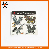4pcs The eagle pattern water transfer paper tattoo