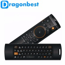 2016 Hot F10 deluxe remote control F10 pro fly air mouse for android tv box mini pc linux