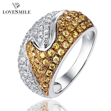 Luxury multi color value 925 sterling silver antique cubic zirconia ring