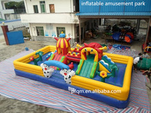 2017 Chinese good and cheap kids inflatable amusement park/inflatable interesting amusement park items