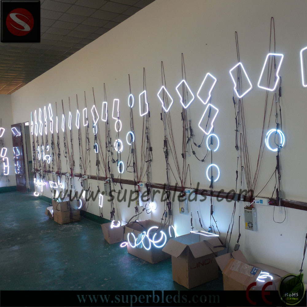 Customed sizes led light bar halos for trucks