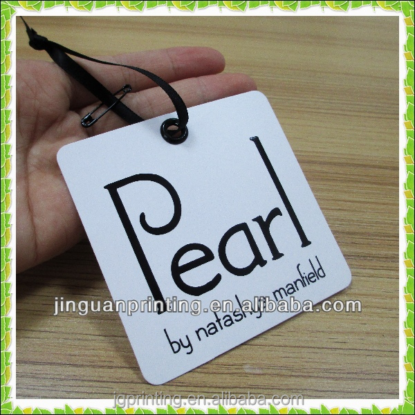 Wholesale customized jewelry tag/clothing label in China