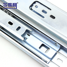 wholesale furniture hardware 3-fold metal telescopic ball bearing drawer channel drawer slide