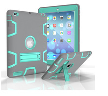 3 in 1 Defender shockproof Heavy duty protective STAND Cover case for ipad 234 air mini 1234