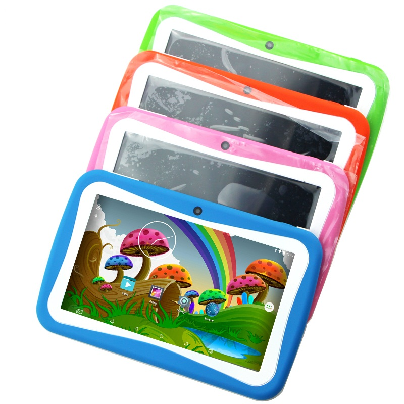 Top 10 selling china kids flat tablets , RK3126 quad core cheap android computer colorful tablet 7 inch
