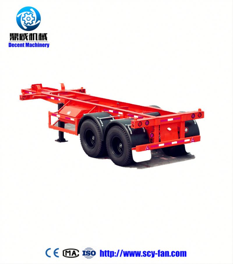 Yuantong 3axles 60t flat bed trailer