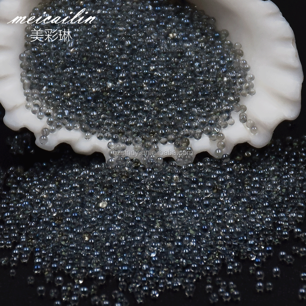 Double color 0.8mm  Pixie Glass Caviar Beads Micro Bead