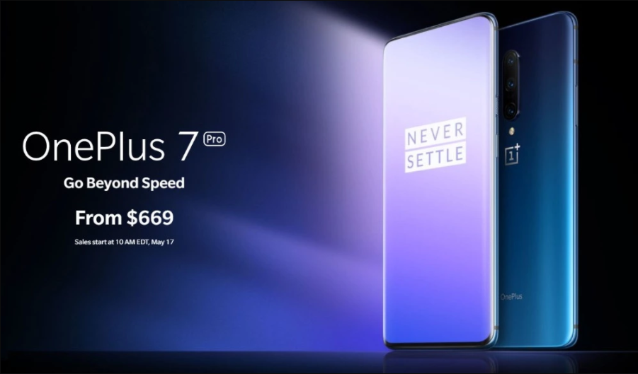 In Stock Original Oneplus 7 Pro 6GB 128GB Smartphone Snapdragon 855 AMOLED Screen 48MP Triple Camera 30W Charger NFC 4000mAh