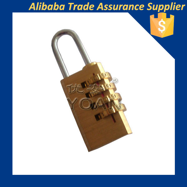 best quality mini password bag luggage brass padlock