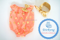 2016 new wonderful fabric baby romper/infant romper for baby girls