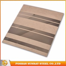 China supplier etched jis sus 409 stainless steel plate sheet for architecture
