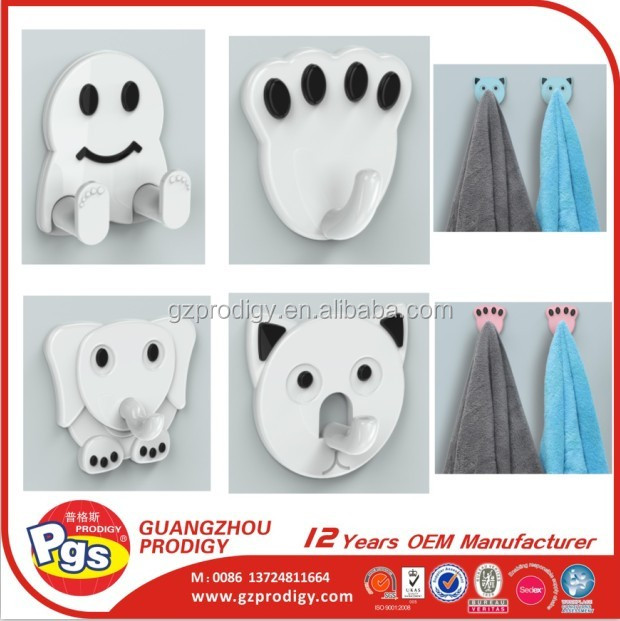 Self adhesive removable plastic stick wall hangers hook