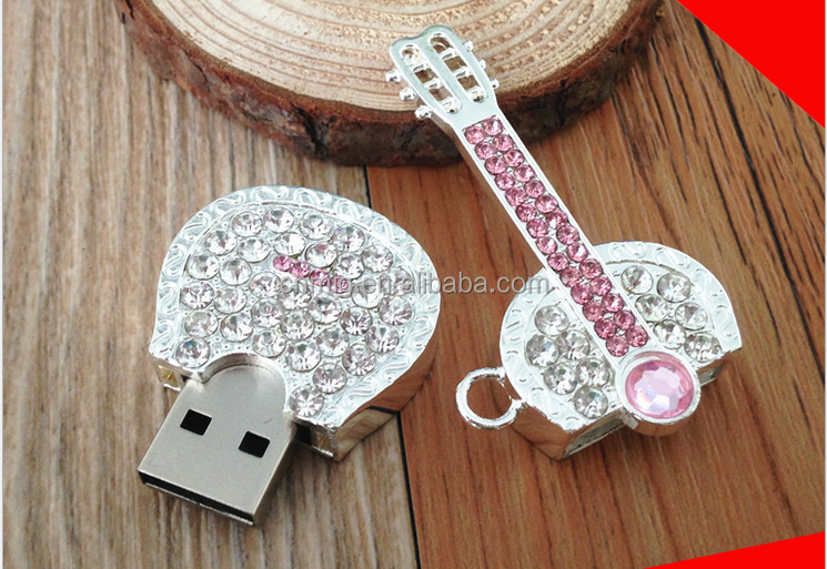 popular high quality guitar shaped creative usb flash drive as promotion gift