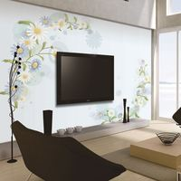 High quality and good price innovative chinese wallpaper mural custom light color wall grace design