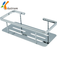 display shelf soap dish Stainless Steel basket bathroom rack