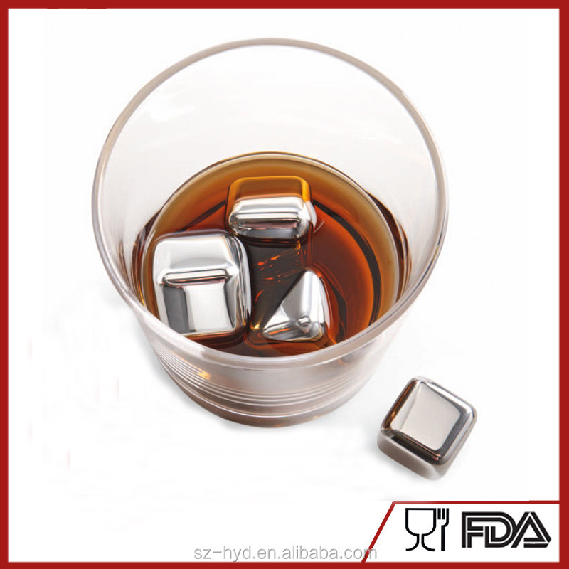 Stainless Steel Whisky Stones and Sipping Stones Metal Ice Cubes