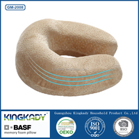 High quality car seat neck care memory foam seat cushion/travel memory foam neck roll pillow