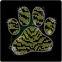 Zebra print Paw print crystal gift and craft,Beautiful rhinestone motif