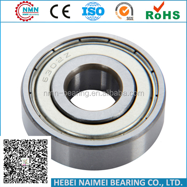 water pump bearing 6302ZZ engine main bearing 6302 taiho engine bearing