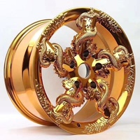 Personalized forged custom gold dragon winding china wheel for luxurious car