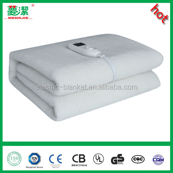 wool electric heated blanket with timers