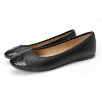 Cheap wholesale fashion flat shoes black pu fancy lady women dress shoe