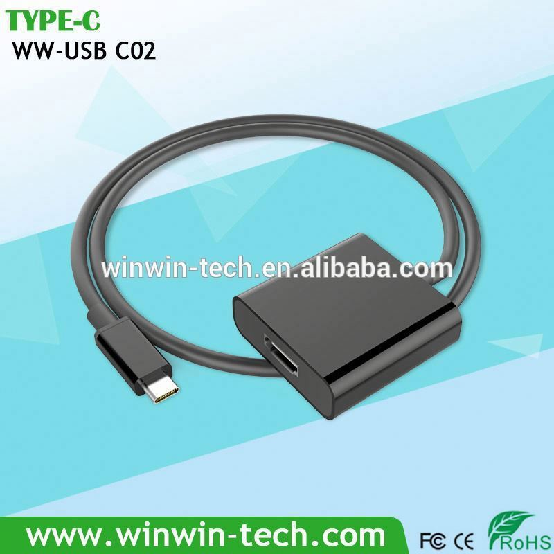 Super fast transfer speed,5gb-10gb high definition type c vga adapter