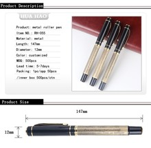 Hot sale metal electric engraving pen logo engraving pen metal roller pen for promotion