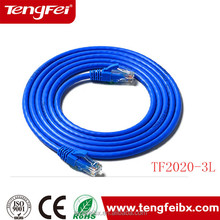 1m 2m 3m copper conductor rj45 Cat6 jumper wire
